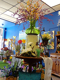 flower shop, floral, florist, arrangement, fresh, silk