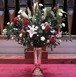 bereavement flowers, arrangements, baskets, matching urns, casket sprays, foot sprays, live plants, gardens